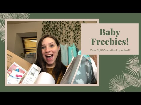 HOW TO GET $1,000+ WORTH OF BABY FREEBIES // UNBOXING MY FREE REGISTRY GIFTS 2020 // TEEN MOM