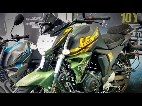 Yamaha FZS V2.0 Matte Green Dual Disc- Special Edition|| Full review and walkaround|| SNC Yamaha