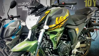 Yamaha FZS V2.0 Matte Green Dual Disc- Special Edition|| Full review and walkaround|| SNC Yamaha