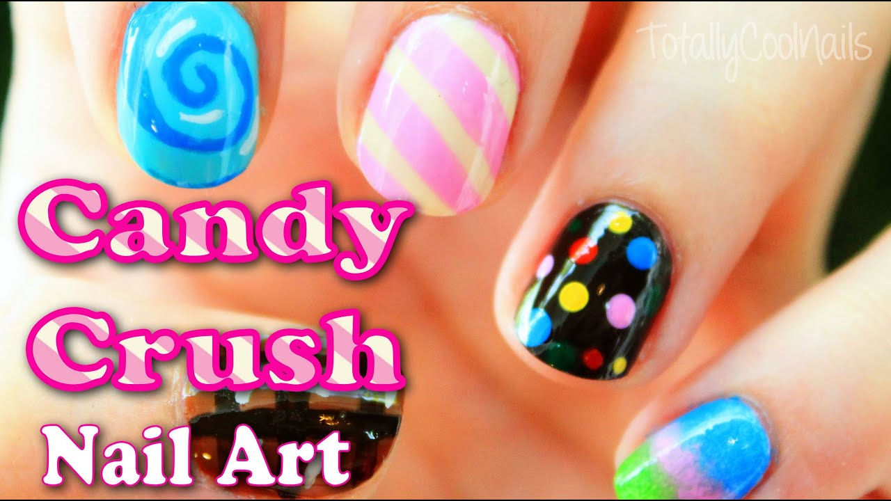 Candy Crush Inspired Nail Art Totallycoolnails Youtube