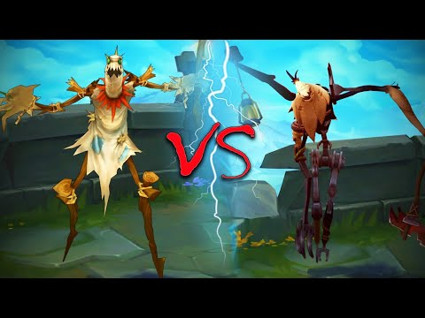 FIDDLESTICKS REWORK ALL SKINS Old VS New Comparison Side by Side - League of Legends