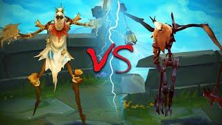 FIDDLESTICKS REWORK ALL SKINS Old VS New Comparison Side by Side - League of Legends