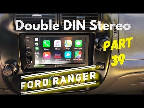 DOUBLE DIN STEREO INSTALLED! [part 39] Ford Ranger EDGE