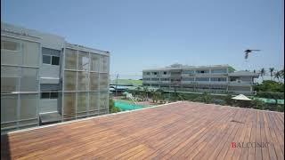 Balconic glass railing design ราวระเบียงกระจกเทมเปอร์ ฝังร่องปูน