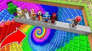 ÖLÜRSEN EN DERİN RENKLİ ÇUKURA DÜŞERSİN! - Minecraft