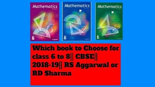 Best Maths Book for Class 6 to 8 CBSE 2018-19