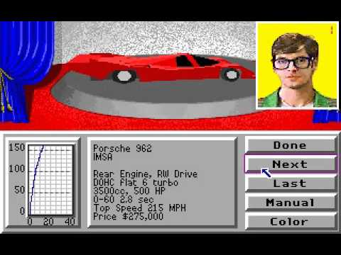 Playing Stunts aka 4d sports driving / Old PC Game on DosBox