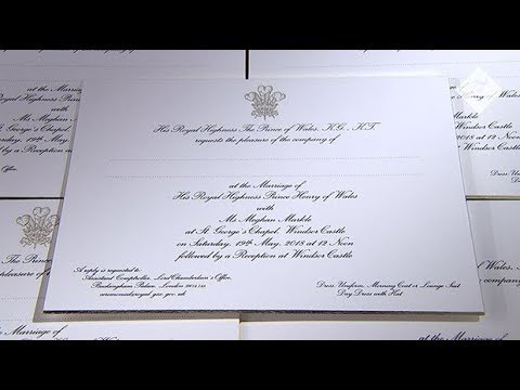Prince Harry And Meghan Markle S Royal Wedding Invites Unveiled