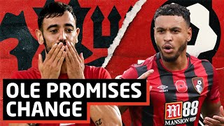 Cover images Solskjaer Promise's Changes | Manchester United vs Bournemouth | Preview