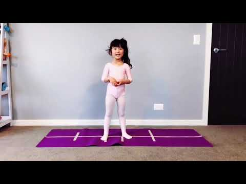 How to do a cartwheel - 48 hours learning  challenge - 5 YEARS OLD CHLOE CARTWHEEL CHALLENGE