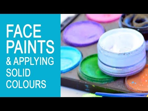 Free Face Painting Classes Online Introduction to face paints and applying solid colours Lesson 1
