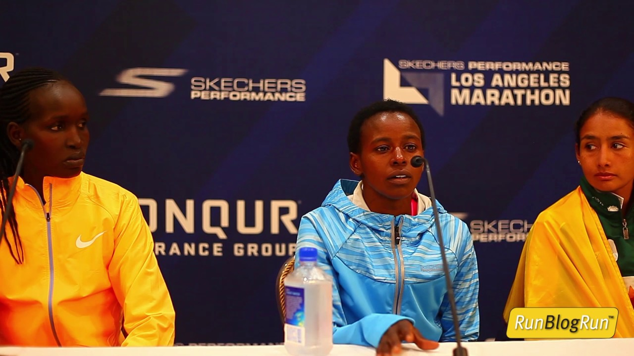 LA Marathon Post Race Press Conference - Top Pro Women
