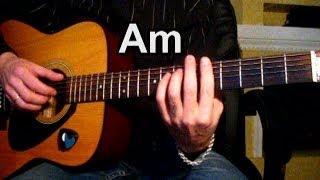 """Ваше благородие - Из х/ф """" Белое солнце пустыни"""" Тональность ( Аm ) Как играть на гитаре"""
