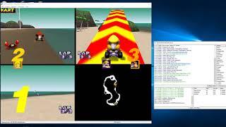 Mario Kart 64. MauroXone Vs. Alejandro Vs. Justase  (N64 kaillera netplay)