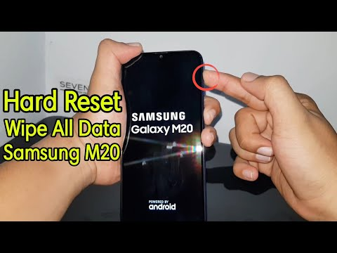 Wipe All Data Hard Reset Samsung M20 SM-M205G Lupa Password / Pola
