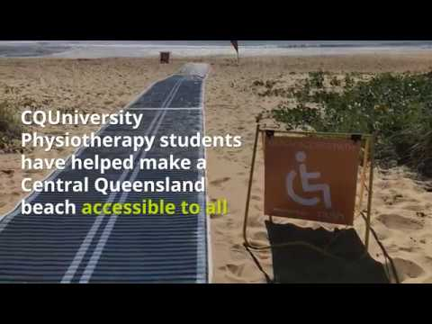 Beach accessibility improved thanks to CQUni Physiotherapy