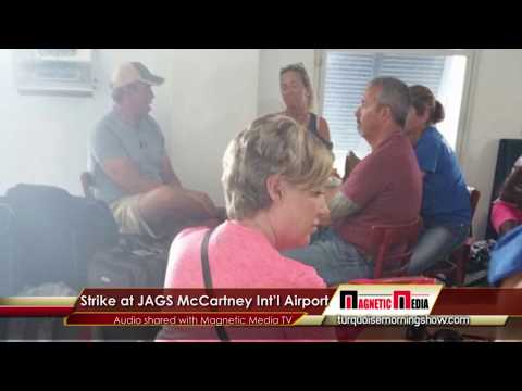 Grand Turk airport closed all day, Strike action taken by Fire Crew