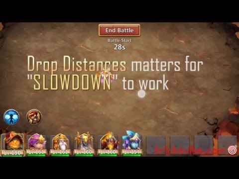 Castle Clash Perfect Strategy For BOSS 4 SLOWDOWN