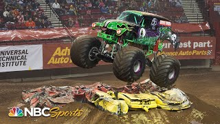 Grave Digger's best Monster Jam freestyle moments from 2019-2020 | Motorsports on NBC