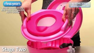 Disney Minnie Mouse Bow Tique Celebration Potty System From The First Years
