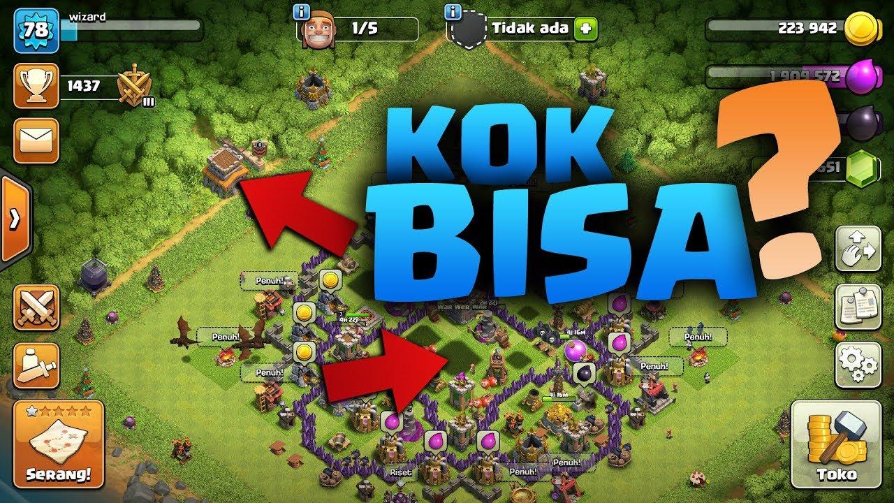 Rahasia Base Teraneh Coc Bangunannya Pada Kabur Clash Of Clans Momen Lucu