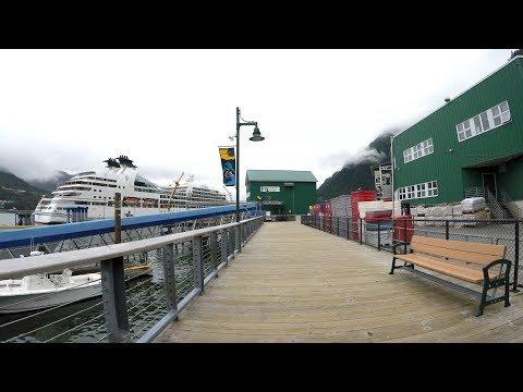 Juneau Alaska Cruise Port & Surrounding Area (4K)