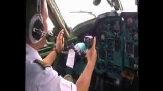 Полет на Ту 134 в кабине экипажа
