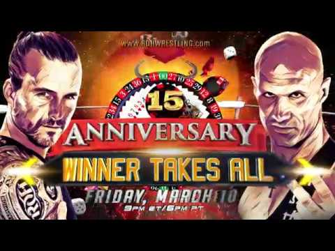 Adam Cole vs Christopher Daniels at the ROH 15th Anniversary PPV