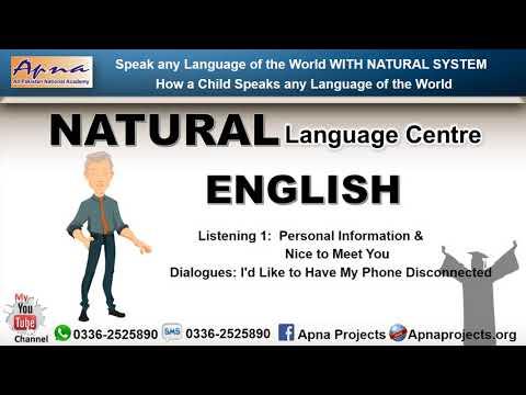 "Speak Natural English By ""NATURAL Language Centre"""