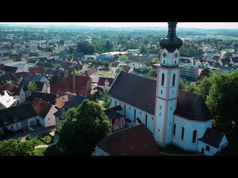 Kreisstadt Laupheim In Baden-Württemberg Aus Der Vogelperspektive