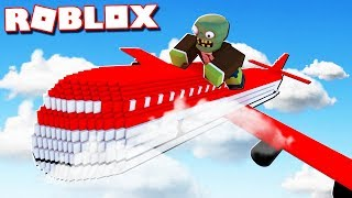 Roblox Adventures - ESCAPE ZOMBIES ON A PLANE IN ROBLOX! (Zombies on A Plane)