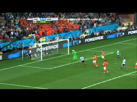 Lo mejor de Argentina 0 (4) - Holanda 0 (2). Mundial Brasil 2014. Fútbol Para Todos.