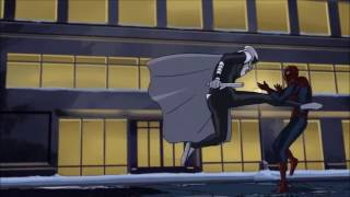 Moon Knight Vs Spiderman Scene from ultimate spider man