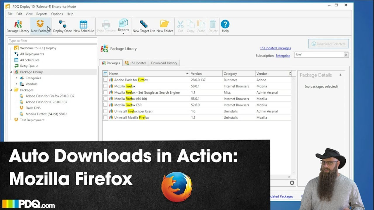 Video: Auto Downloads in Action: Mozilla Firefox - PDQ com
