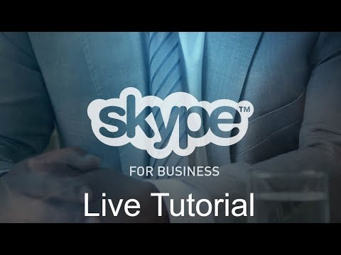 Office 365 Skype For Business Live Tutorial thumbnail