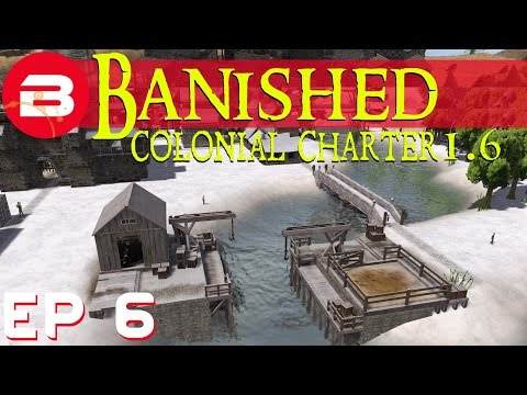 Banished Colonial Charter 1.6 - Town Hall & Trading - Ep 06 (Gameplay w/Mods)