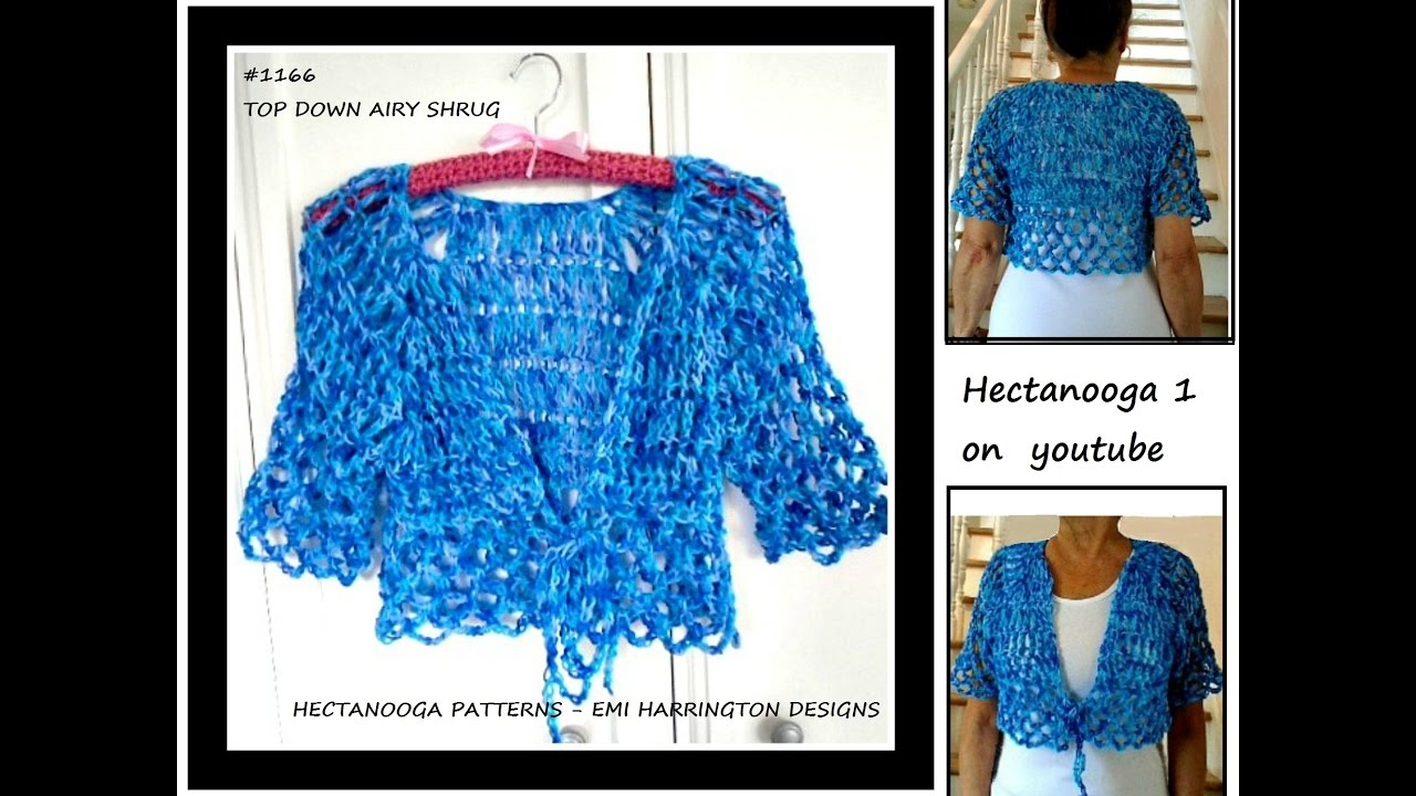 Free Crochet Pattern Top Down Airy Summer Shrug 6 Yrs To Plus Size