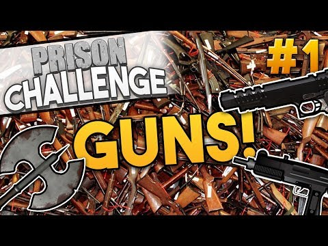 Prison Architect ARMORY CHALLENGE ★ GUNS FOR EVERYONE! (#1) - Prison Architect User Challenge