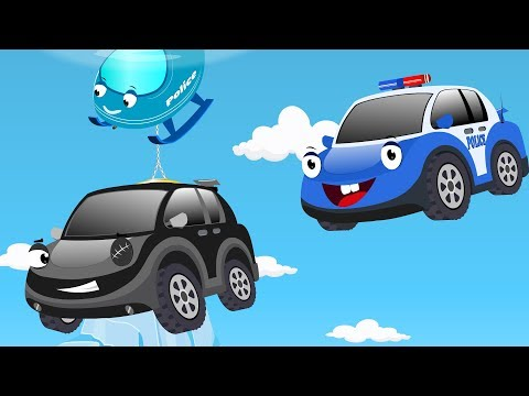 Bob the Police car chase Black thief cars to Rescue Ba Christmas Surprise Egg  Kids Cartoon Song