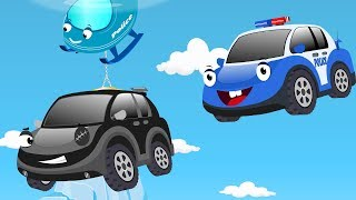 Bob the Police car chase Black thief cars to Rescue Baby Christmas Surprise Egg | Kids Cartoon Song