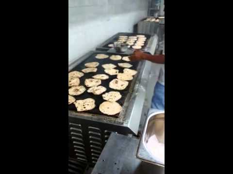 Chapati Making On Commercial Induction plate
