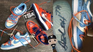 VIRGIL OFF WHITE x FUTURA NIKE DUNK LOW SNEAKER FIRST LOOK!