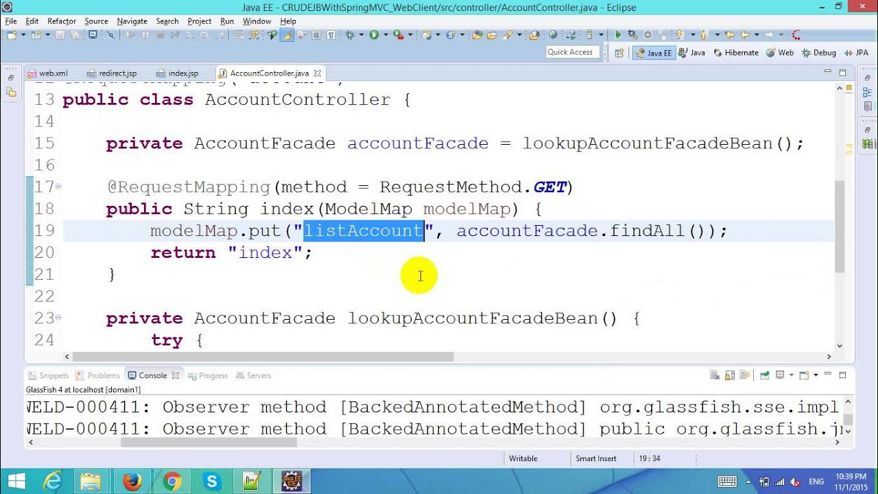 Ejb tutorial part 7 crud with ejb and jpa in spring mvc ejb tutorial part 7 crud with ejb and jpa in spring mvc framework baditri Images