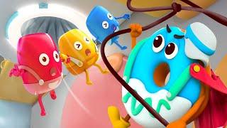 Super Donut Rescue Team | Yummy Foods Animation | Kids Cartoon | Nursery Rhymes | BabyBus