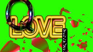 Q Love L Letter Green Screen For WhatsApp Status | Q & L Love,Effects chroma key Animated Video