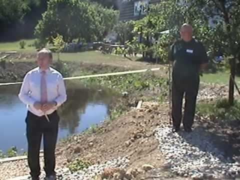 Norman Baker MP opens our rainwater harvesting reservoir