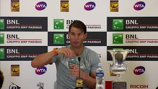 Rafael Nadal Press conference after his victory at Rome Masters 2018