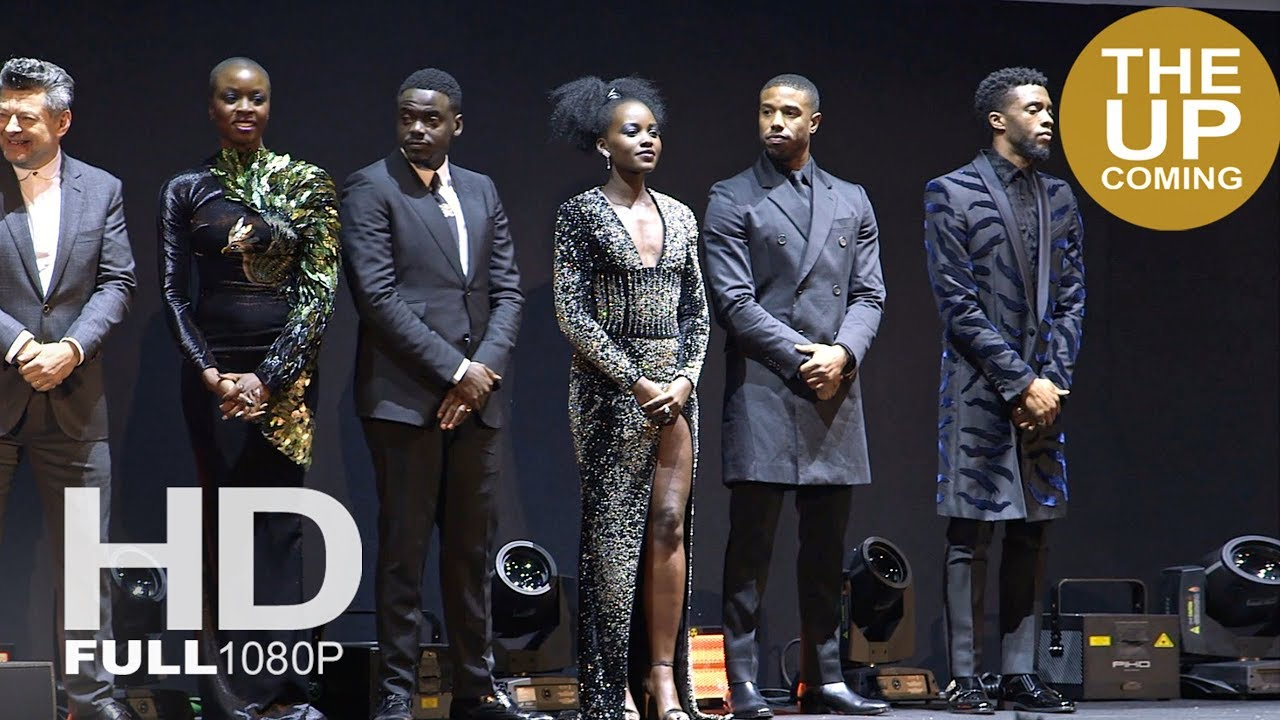 Black Panther Premiere Stage Presentation Red Carpet Chadwick Boseman Kaluuya Lupita Nyong O Youtube