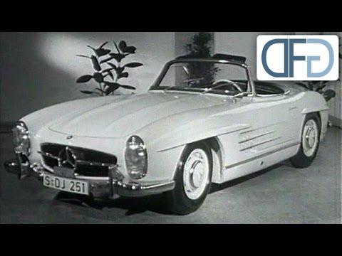 IAA 1957 - Mercedes-Benz 190 SL   BMW 507   Fiat Abarth 750   Studebaker Golden Hawk (2/3)