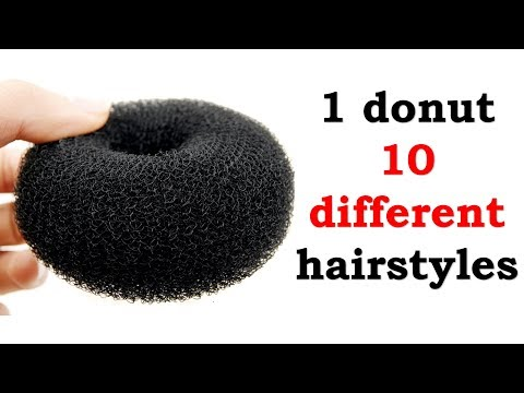 10-unique-&-antique-hairstyles-with-in-1-donut-|-quick-hairstyles-|-try-on-hairstyles-|-hairstyle